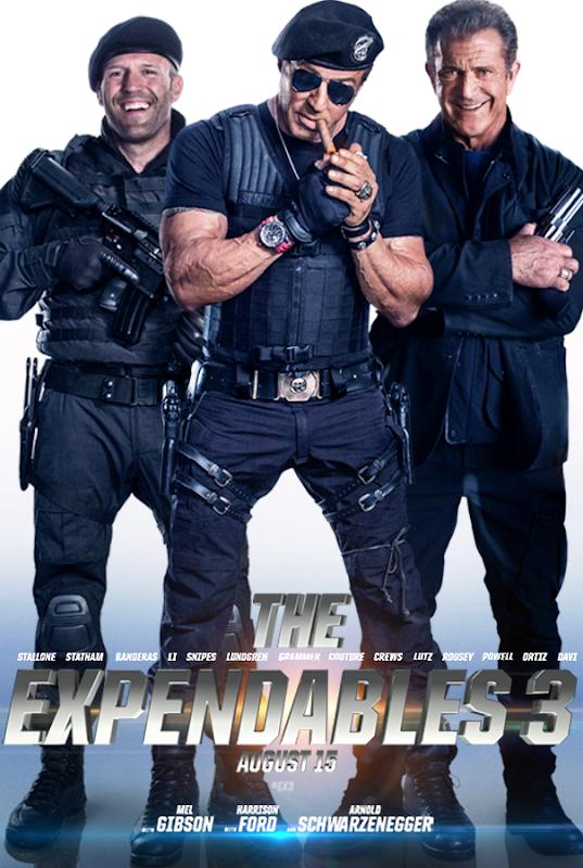 Jason Statham, Sylvester Stallone şi Mel Gibson în Posterul THe Expendables 3