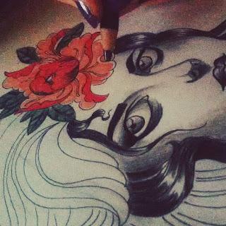 sketsa perempuan