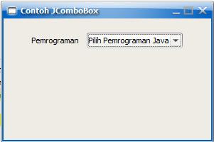 Contoh Membuat JComboBox pada Java Swing