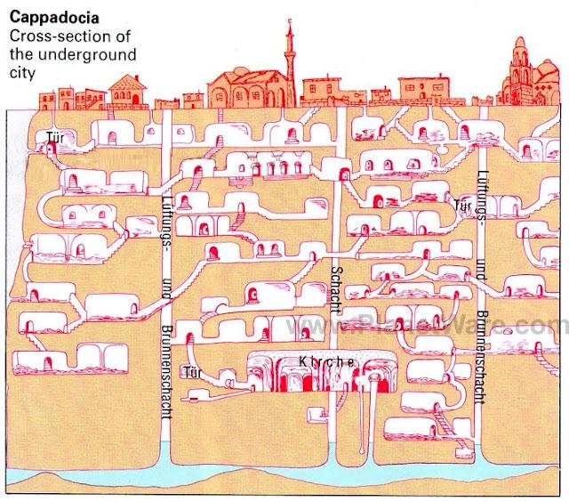 Cappadocia underground map
