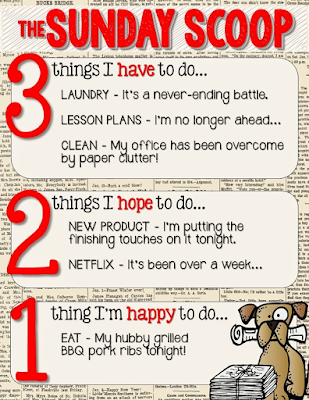 Sometimes I feel like I can never get caught up. Here's my to-do list along with a recipe for the only potato salad I am willing to eat! Update: I've added a link to a great beginning of the year activity for elementary, middle or high school students that integrates technology.