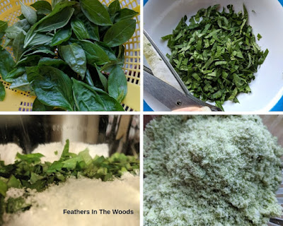Tutorial for basil finishing salt