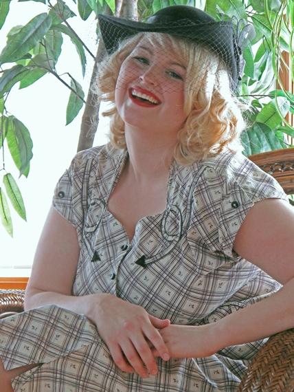 1940s plus size plaid western wear day dress via Va-Voom Vintage