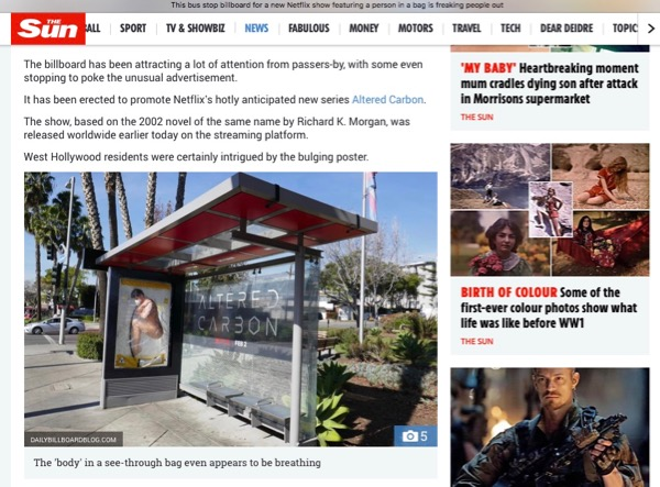 Sun Altered Carbon 3D bus shelter coverage