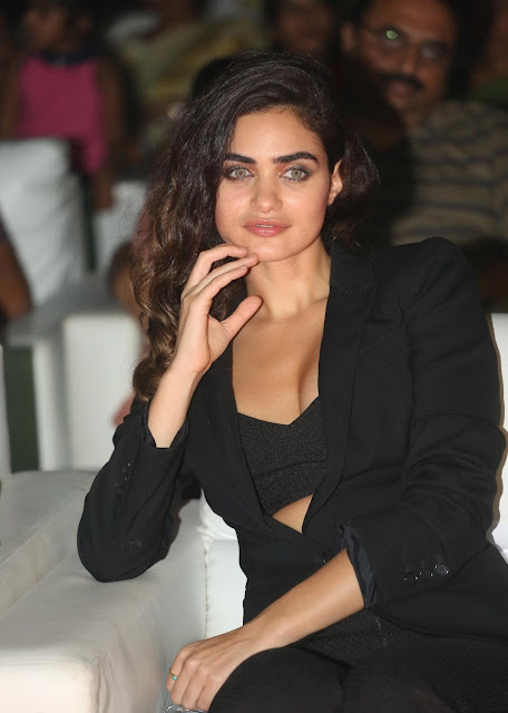 Miss IPL Bollywood 2009 Gabriella Demetriades Showcasing Her Sexy Cleavage At Telugu Film 'Oopiri' Audio Launch Event At Novotel Hotel in Hyderabad