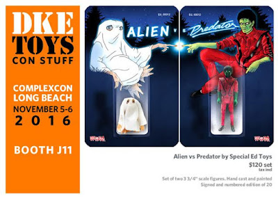 Complex Con 2016 Exclusive Alien vs Predator The Evil of the Thriller Edition Resin Figure Set by Special Ed Toys x DKE Toys