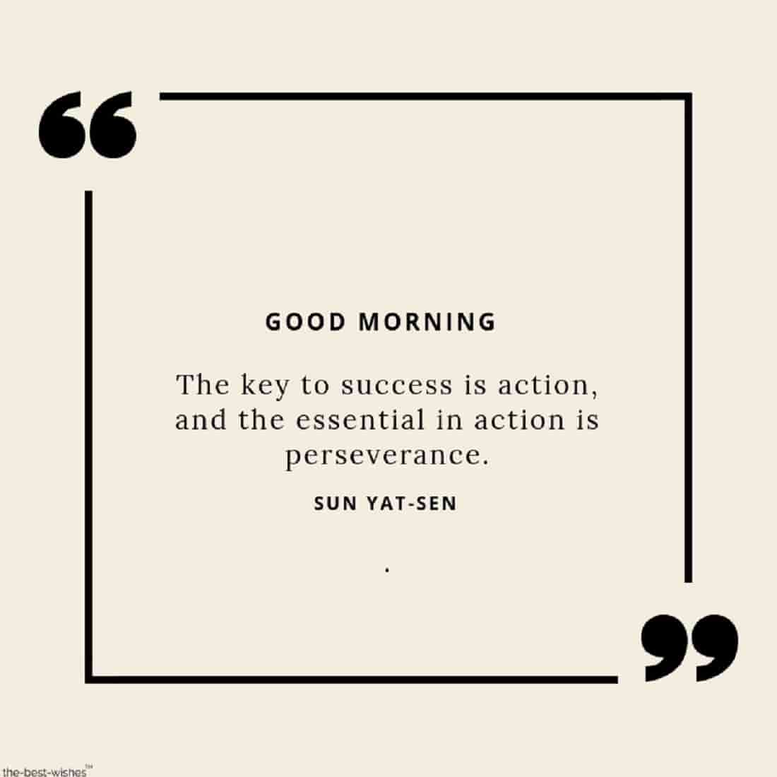 good morning with success quotes