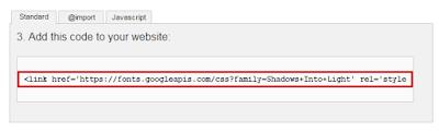 google styish fonts for blogger