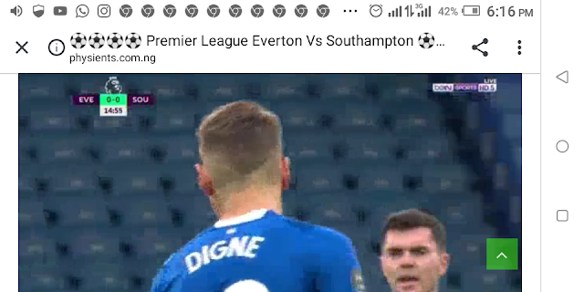 ⚽⚽⚽⚽ Premier League Everton Vs Southampton ⚽⚽⚽⚽