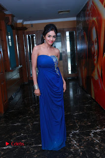 Actress Pooja Sree Pictures in Blue Long Dress at Chocolate Boy Friendship Day Event  0126
