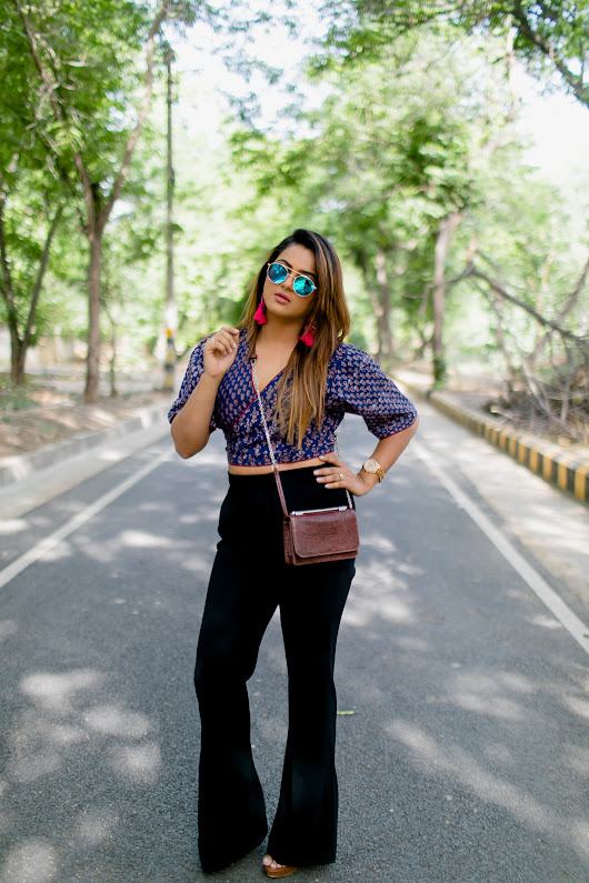 Guilty Bytes: Indian Fashion Blogger | Delhi Style Blog | Beauty Blogger | Wedding Blog: Doing Summer Right With Printed Cotton Crop Tops!