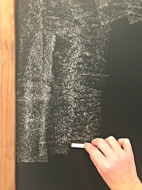 Seasoning a chalkboard