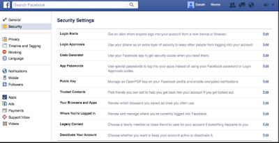 Security Facebook Settings - How To Secure Facebook - Facebook Security