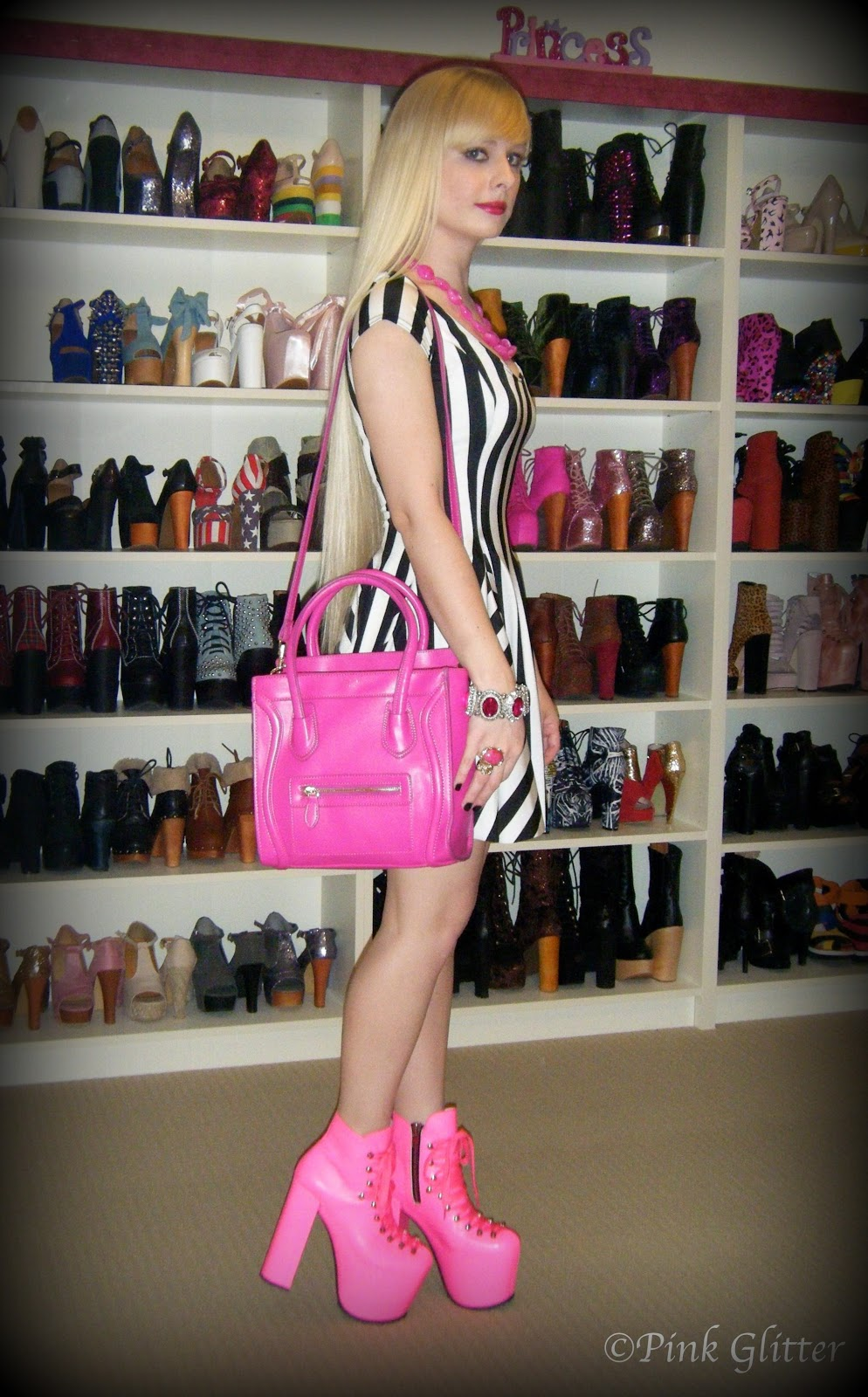Pink Glitter Barbie Referee