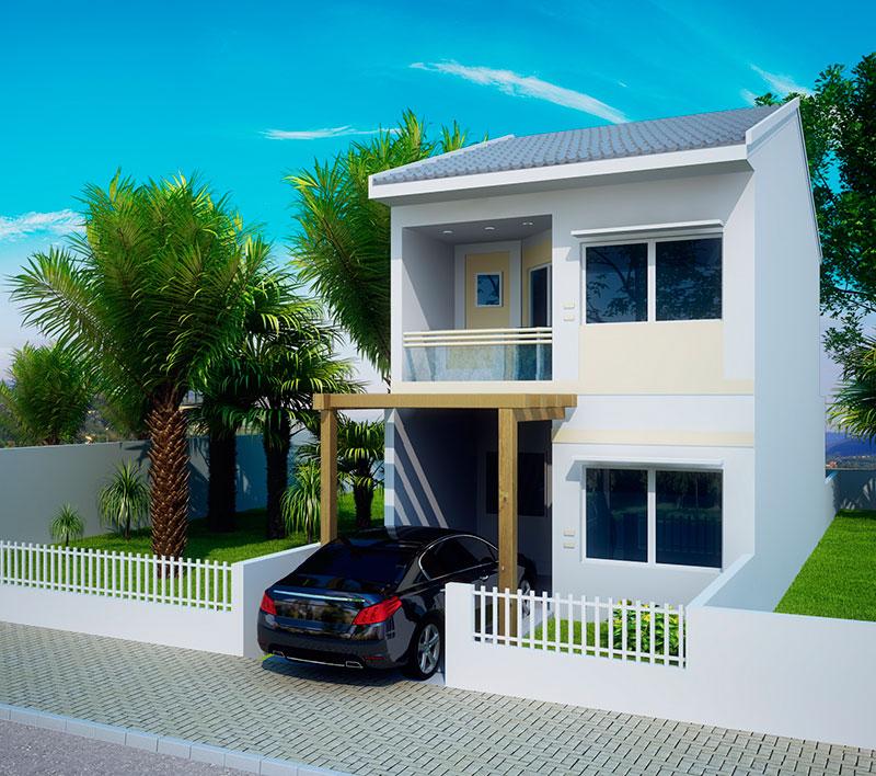Fachadas para casas pequenas e modernas 40 fotos toda - Modelo de casa modernas ...