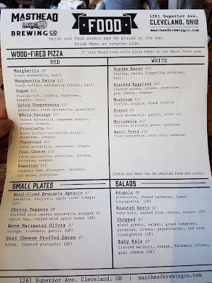 Masthead Brewing Co menu