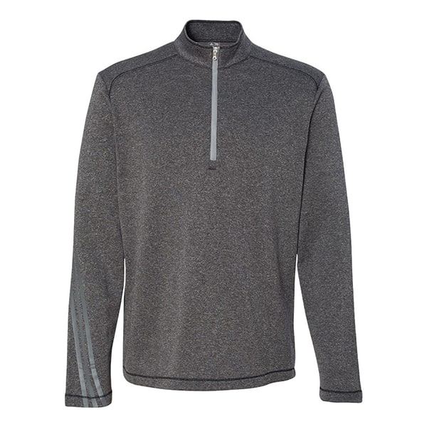 Adidas Men's Brushed Terry Heather 1/4 Zip Jacket