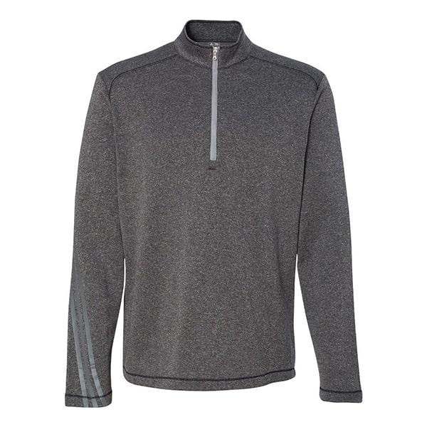 Adidas Men's Brushed Terry Heather 1/4 Zip Jacket