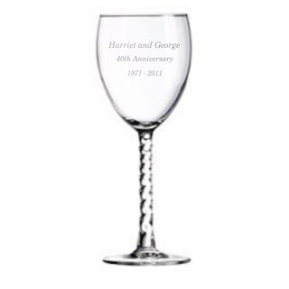 Twisted Stem Wine Glass with Monogram