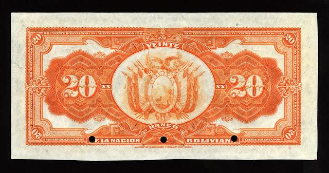 veinte bolivianos billetes