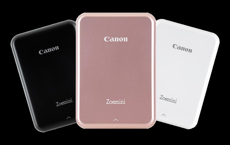 Три цвета корпуса минипринтера Canon Zoemini