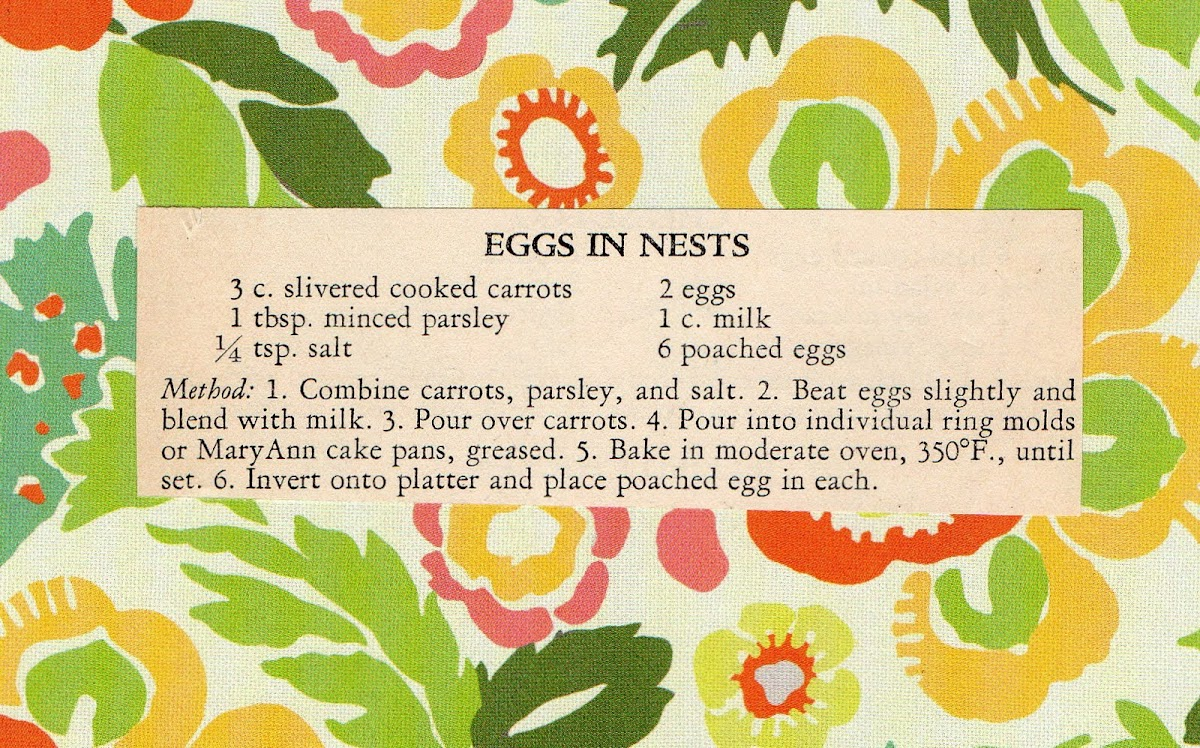 Eggs in Nests (quick recipe)