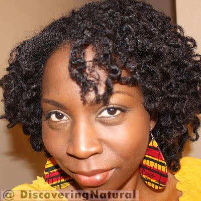 Chunky Twistout with Perm Rods on Natural Hair