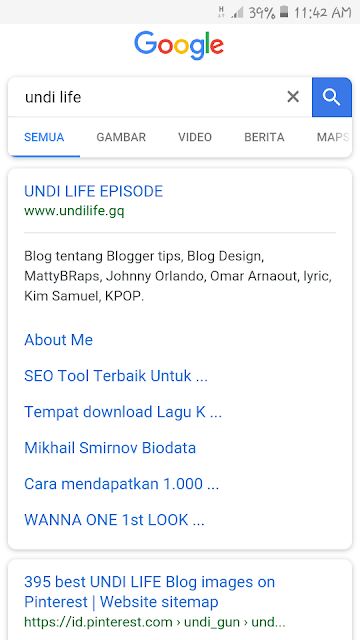 google sitelinks undilife.gq
