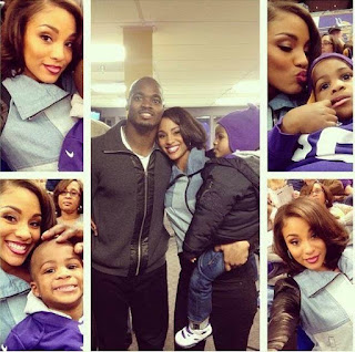 Adrian Peterson's Wife Ashley Brown loving moment