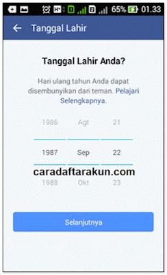 Cara Daftar Facebook Melalui Hp Android