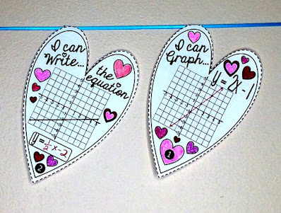 Linear equations hearts pennant activity