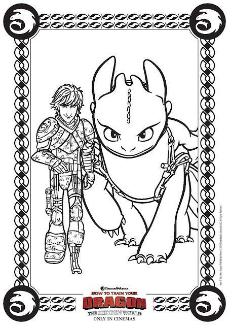 How To Train Your Dragon: The Hidden World Activity Sheets