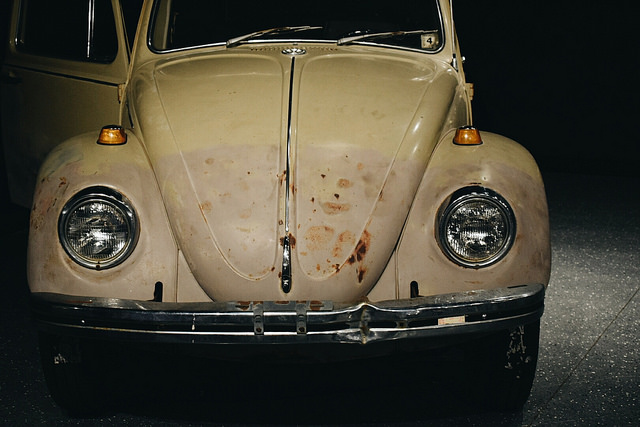 Ted Bundy's Volkswagen Beetle on display at Alcatraz East