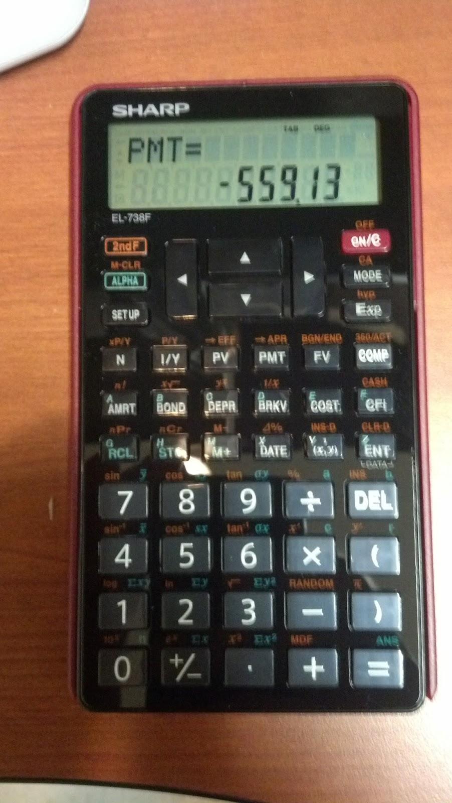 Eddie's Math and Calculator Blog: Review: Sharp EL-738F