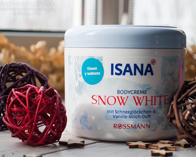 крем для тела Isana Snow White