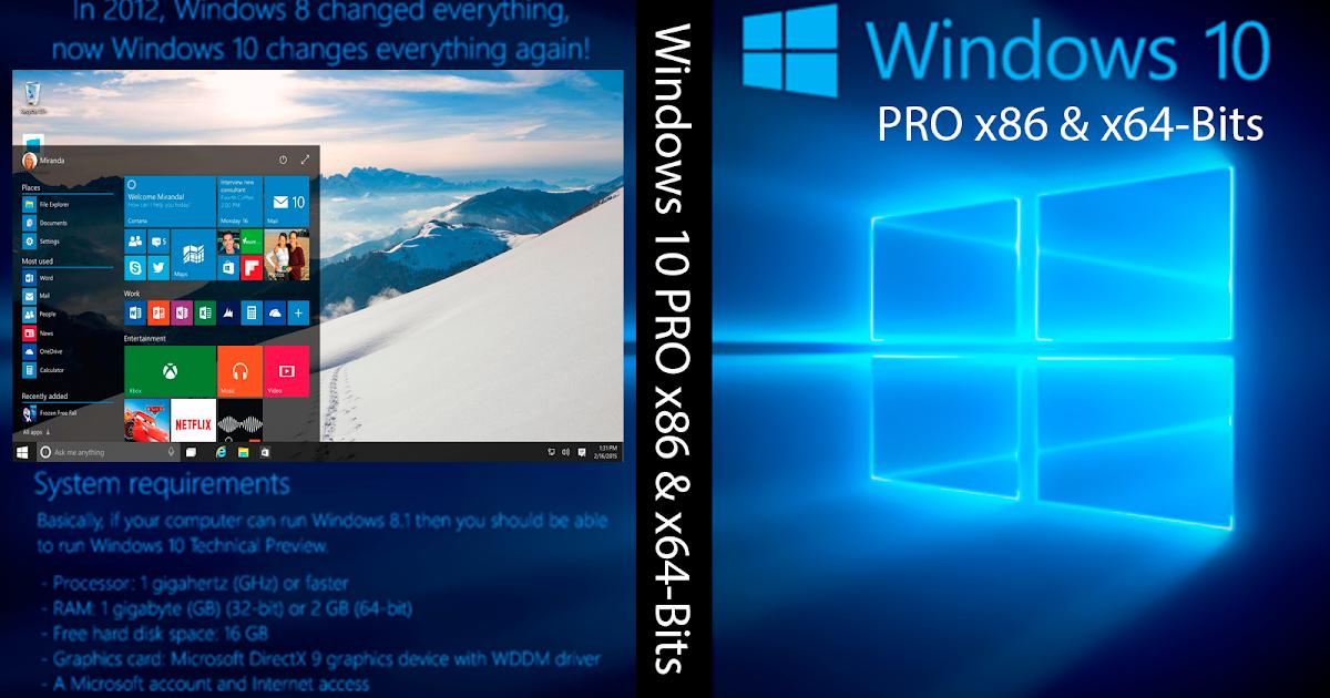 Windows 10 Pro Final Original Microsoft Vlsc: Mestre Dos Downloads: Baixar Windows 10 PRO X86 E X64-Bits
