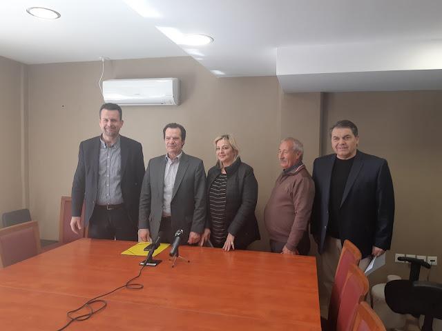 Τον Δήμαρχο Άργους Μυκηνών επισκέφθηκε  ο Γ.Γ. Υποδομών Γιώργος Δέδες  (βίντεο)