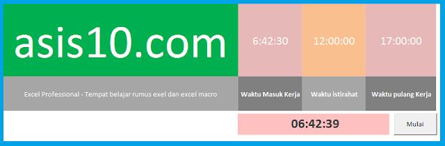 Membuat alarm dengan excel macro