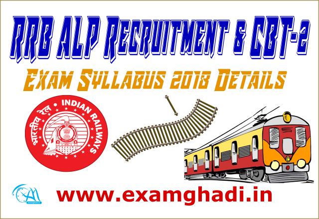 RRB ALP Recruitment & CBT-2 Exam Syllabus 2018 Details