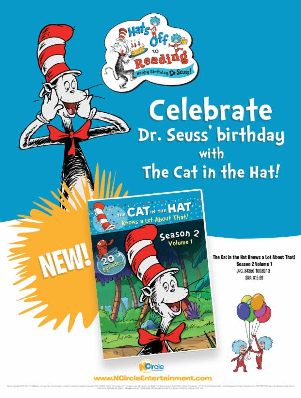 Dr Suess Birthday Is Coming Up On March 2nd And We Plan Having A Marathon Of Books DVDs To Celebrate The Day