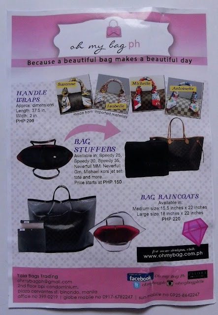 Oh My Bag offers items like bags (like hand bag and versatile weekender black bag), bag stuffers, bag raincoats,  base shapers, shoe stuffers, dust bag, bag filers. There are options to fit designer bags (like Longchamp, Louis Vuitton, Michael Kors, etc) various sizes.
