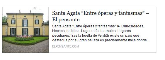 """Santa Agata """"Entre óperas y fantasmas"""""""