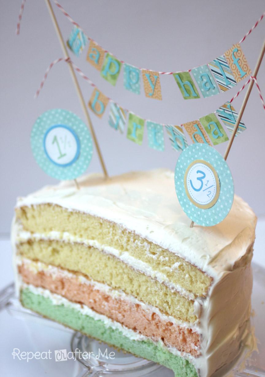 Half Birthday Celebration Repeat Crafter Me