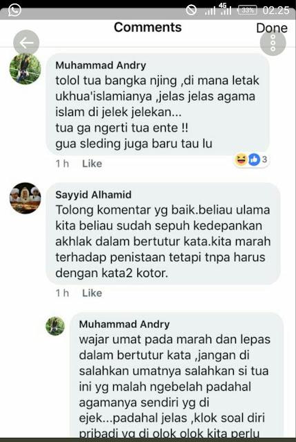 kiai maruf amin dihina di facebook