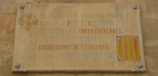 Façana de la casa on va nèixer la Generalitat de Catalunya