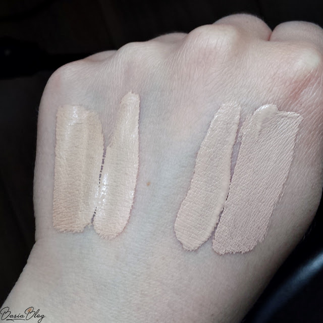 korektor Tarte Shape Tape Light Sand, korektor Makeup Revolution Conceal&Define C2, MUR C2, swatch