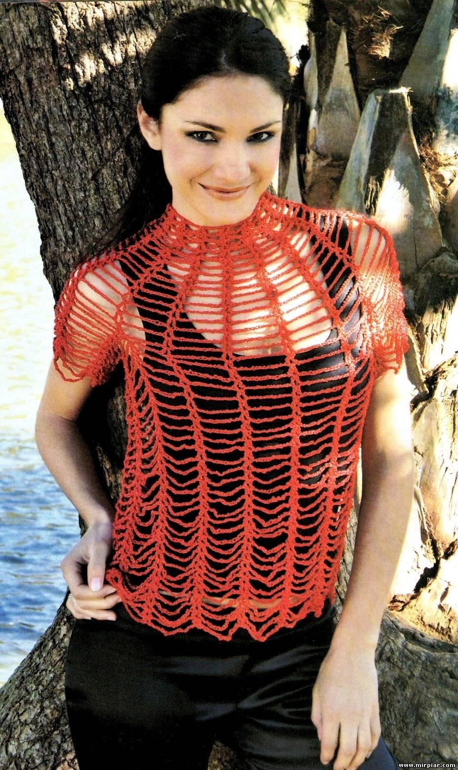 Patron Crochet Jersey Araña
