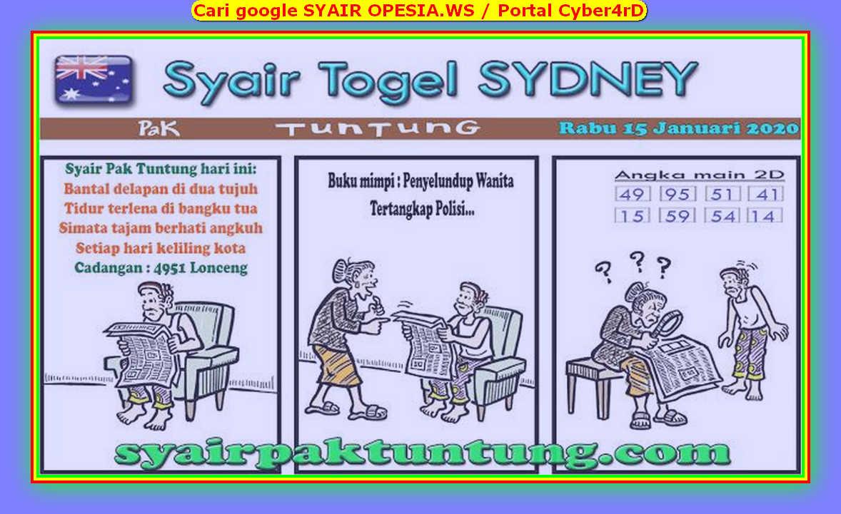 Kode syair Sydney Rabu 15 Januari 2020 139