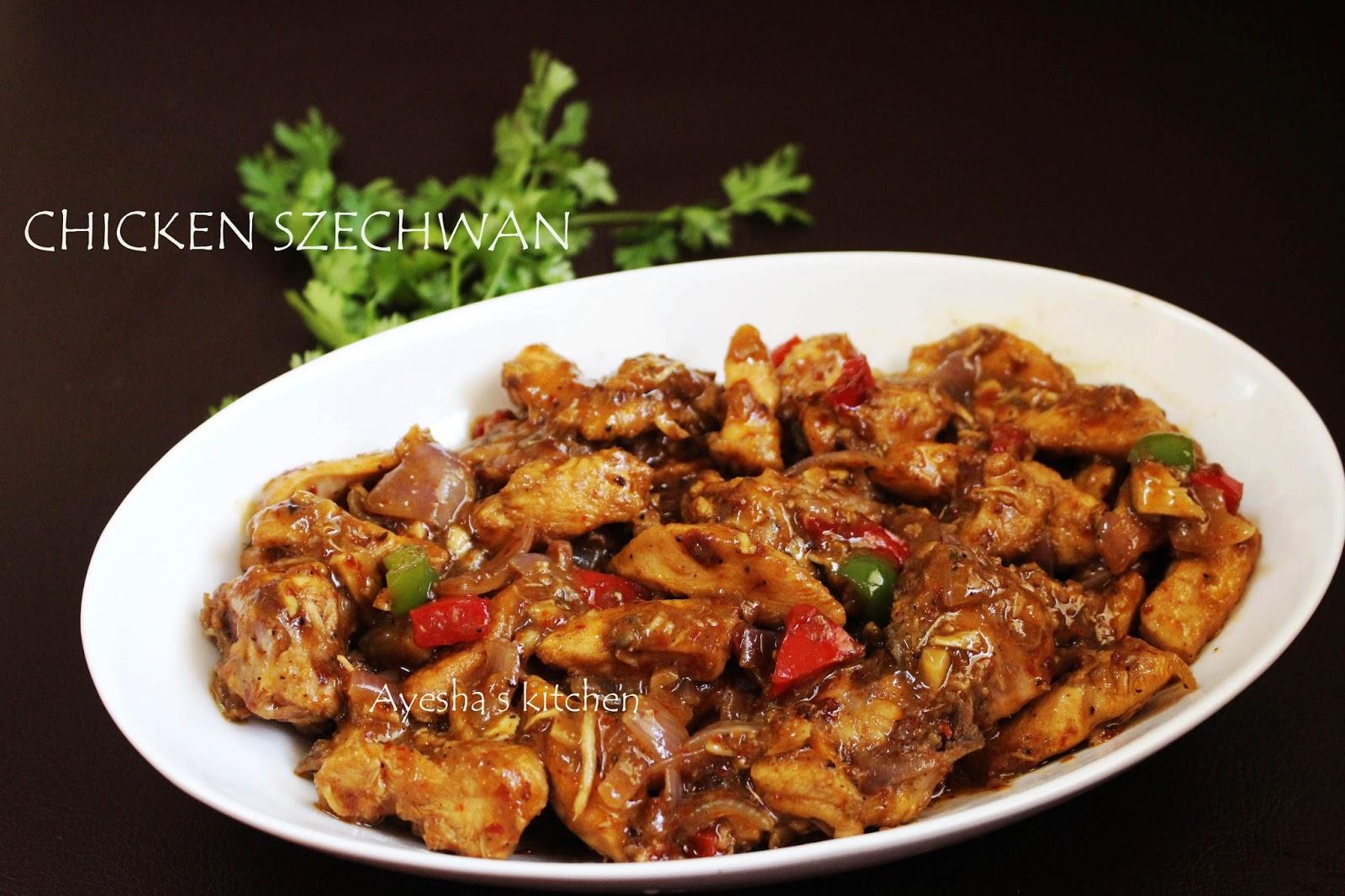 Schezwan chicken recipe schezwan chicken with homemade schezwan sauce szechwan chicken recipe forumfinder Gallery