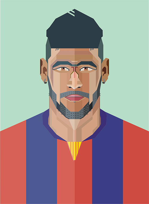 membuat geometric coreldraw, geometric vector portrait